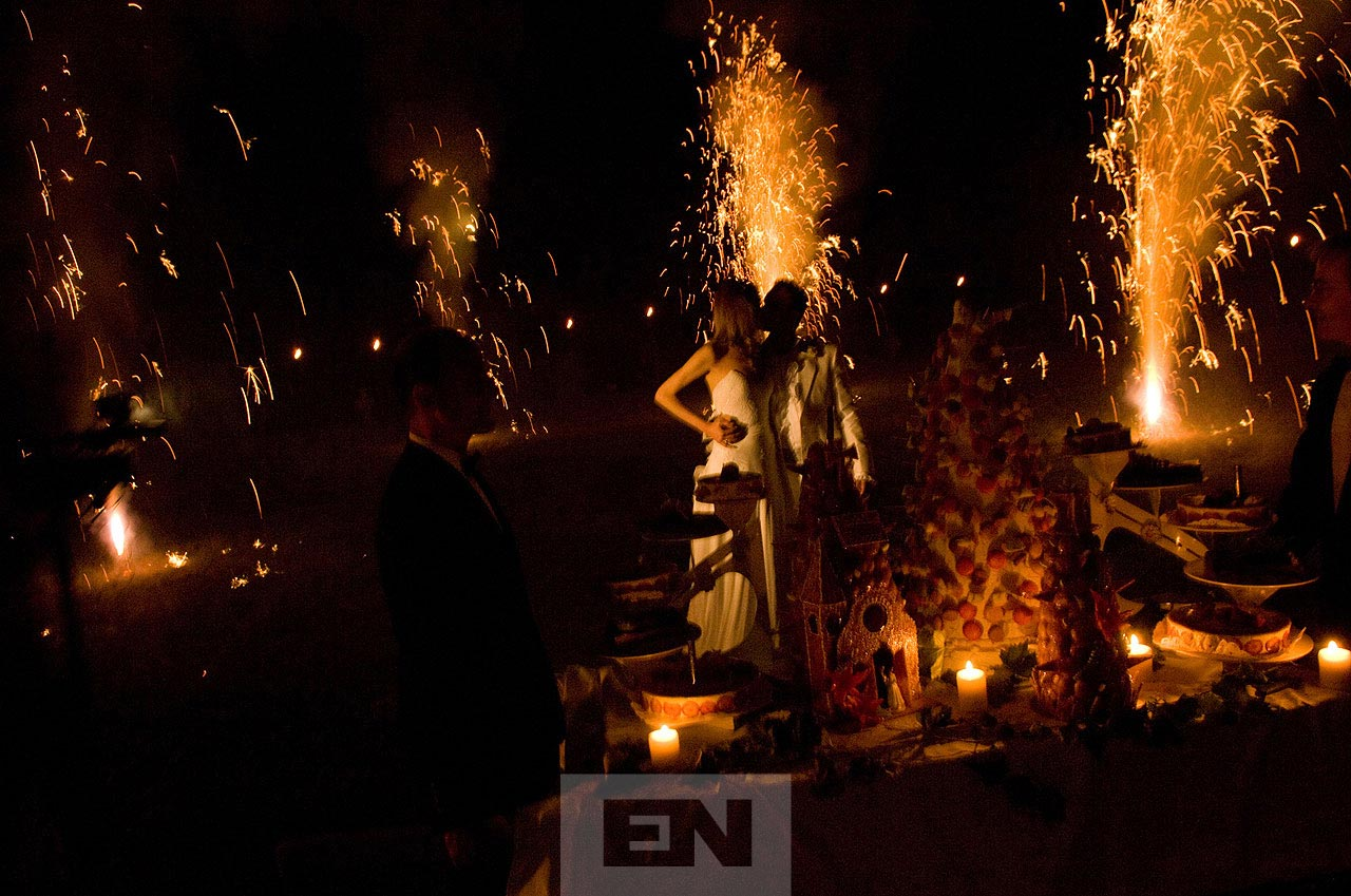 Wedding fire works